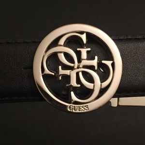 Belt by Guess | Size Medium | Black Leather